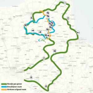 route door groningen aardbeving route